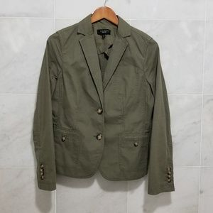 Talbots Olive/Army Green Cotton Causal Jacket